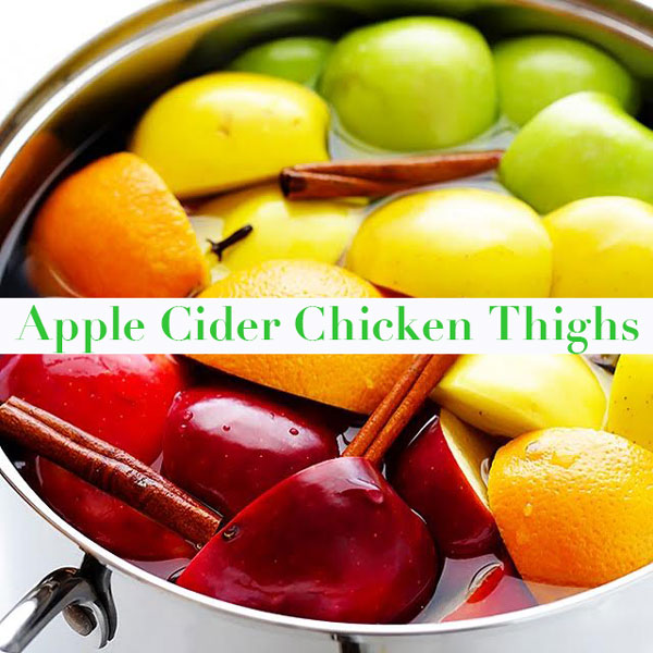 Cider-Glazed Chicken Thighs Recipe — Dishmaps